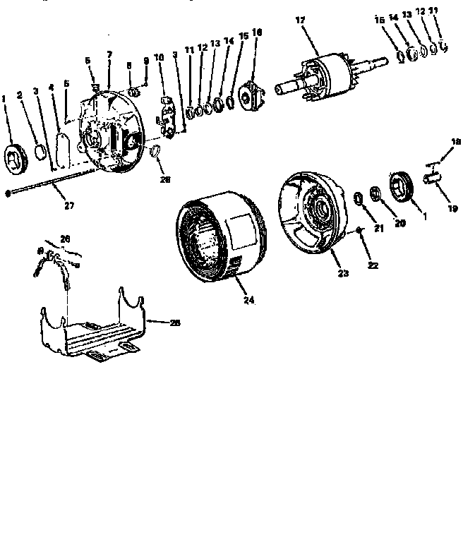 Craftsman model 11319837 motor electric genuine parts