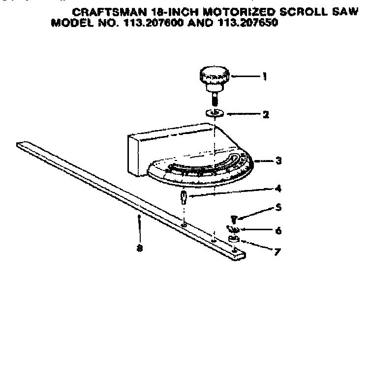 Craftsman model 113207600 saw scroll genuine parts
