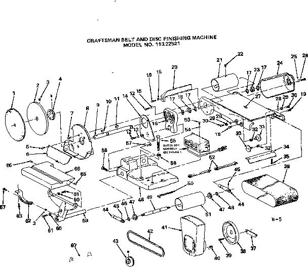 Craftsman model 11322521 sander genuine parts