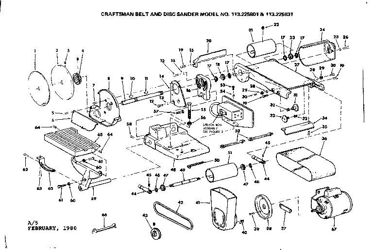 Craftsman model 113225831 sander genuine parts