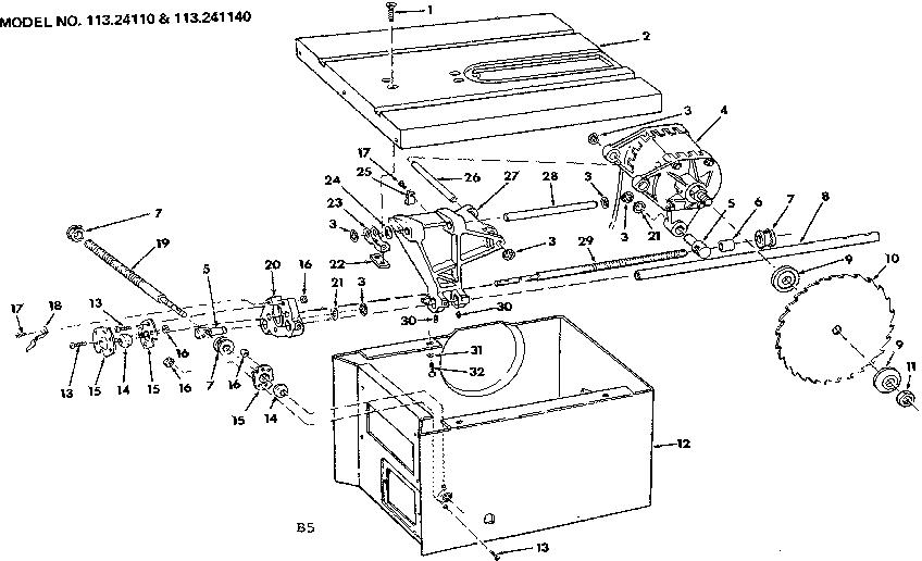 Craftsman model 113241140 motor electric genuine parts