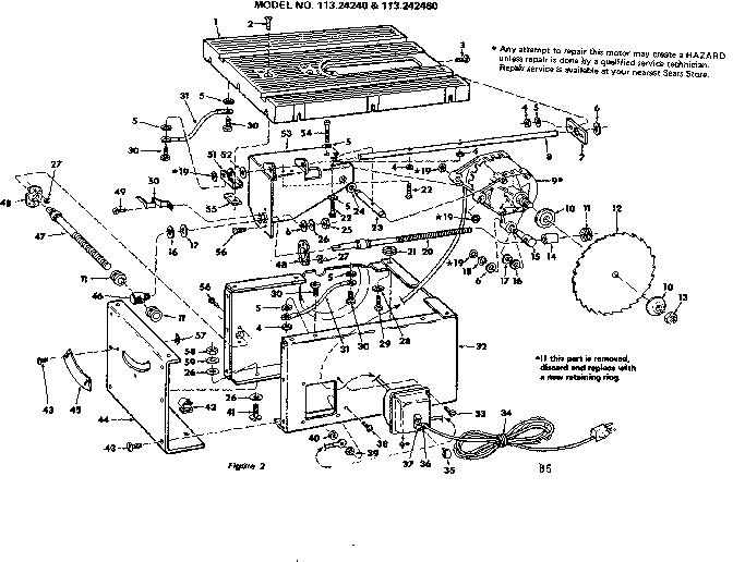 Craftsman model 113242460 motor electric genuine parts