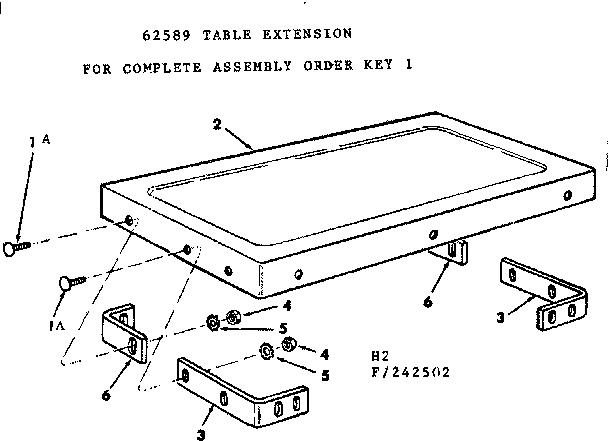 Craftsman model 113242502 saw table genuine parts