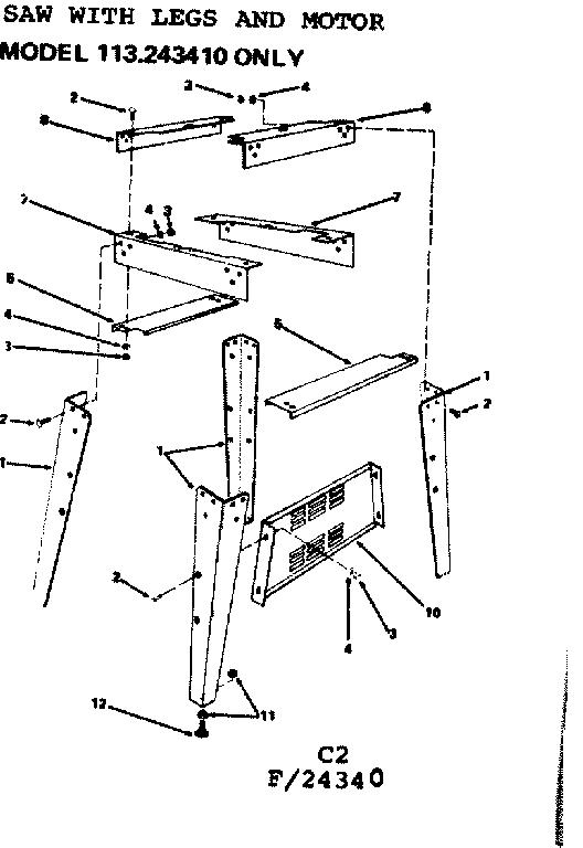 Craftsman model 11324340 band saw genuine parts