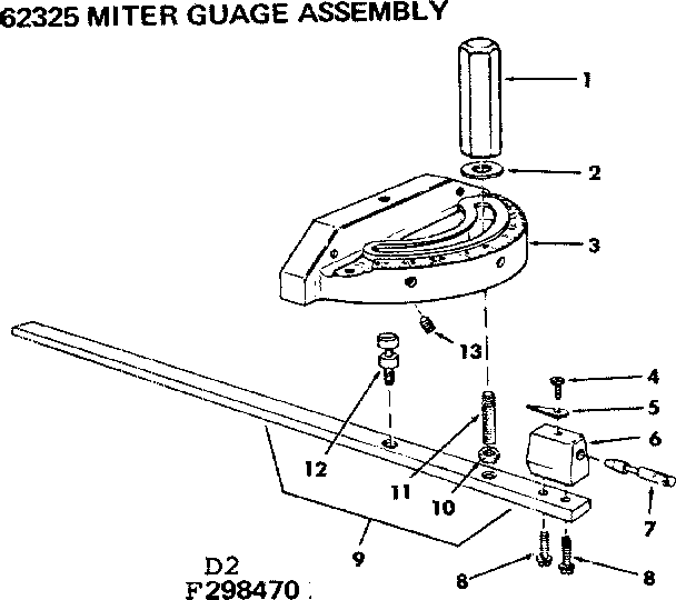 Craftsman model 113299142 table saw genuine parts