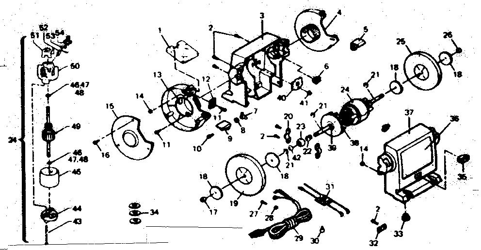 Craftsman model 257192110 grinder bench genuine parts