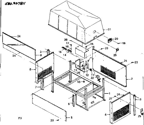 Craftsman model 580327811 generator genuine parts