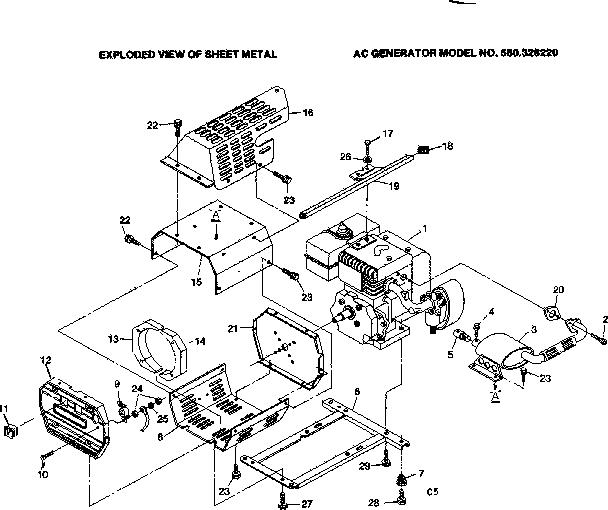 Craftsman model 580328220 generator genuine parts