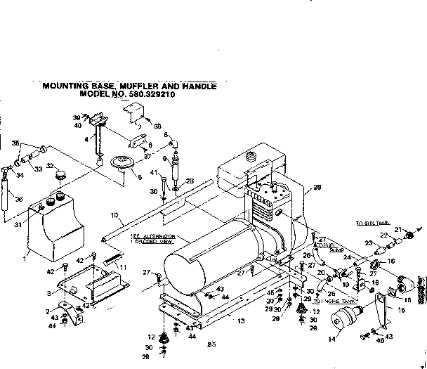 Craftsman model 580329210 generator genuine parts