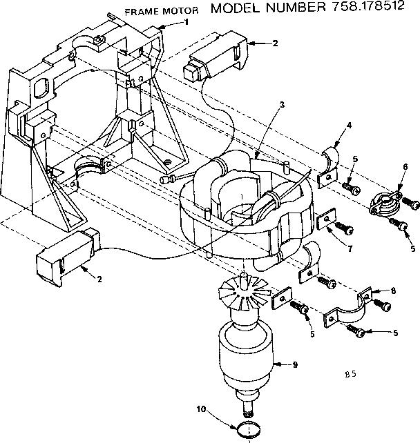 Craftsman model 758178512 wet/dry vacuum genuine parts