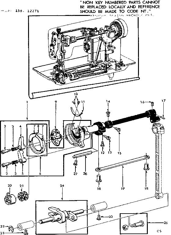 Kenmore model 15812271 mechanical sewing machines genuine