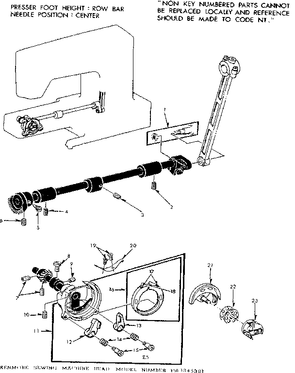 Kenmore model 1581345381 mechanical sewing machines