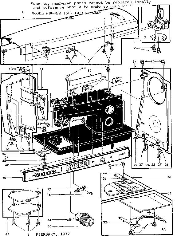 Kenmore model 15814311 mechanical sewing machines genuine