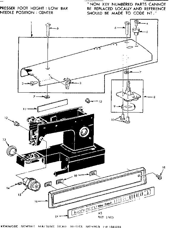 Kenmore model 1581561281 mechanical sewing machines