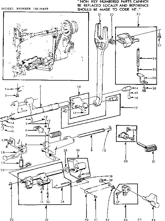 Kenmore model 15817600 mechanical sewing machines genuine