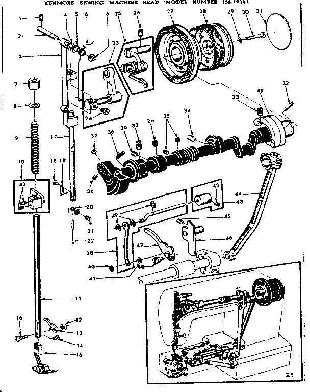 Kenmore model 15819141 mechanical sewing machines genuine