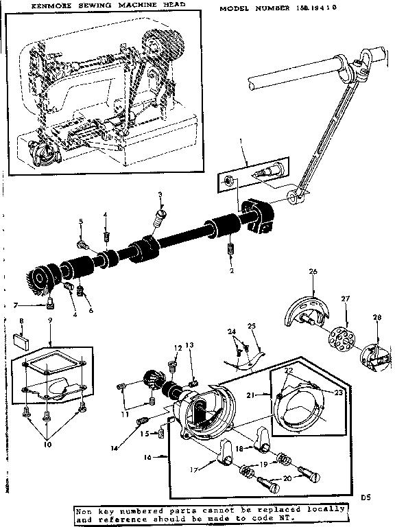 Kenmore model 15819410 mechanical sewing machines genuine