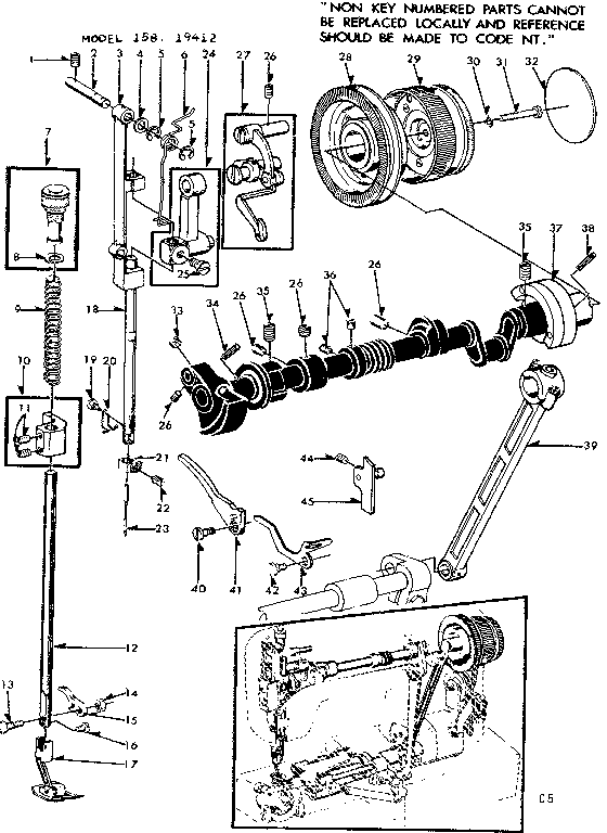 Kenmore model 15819412 mechanical sewing machines genuine