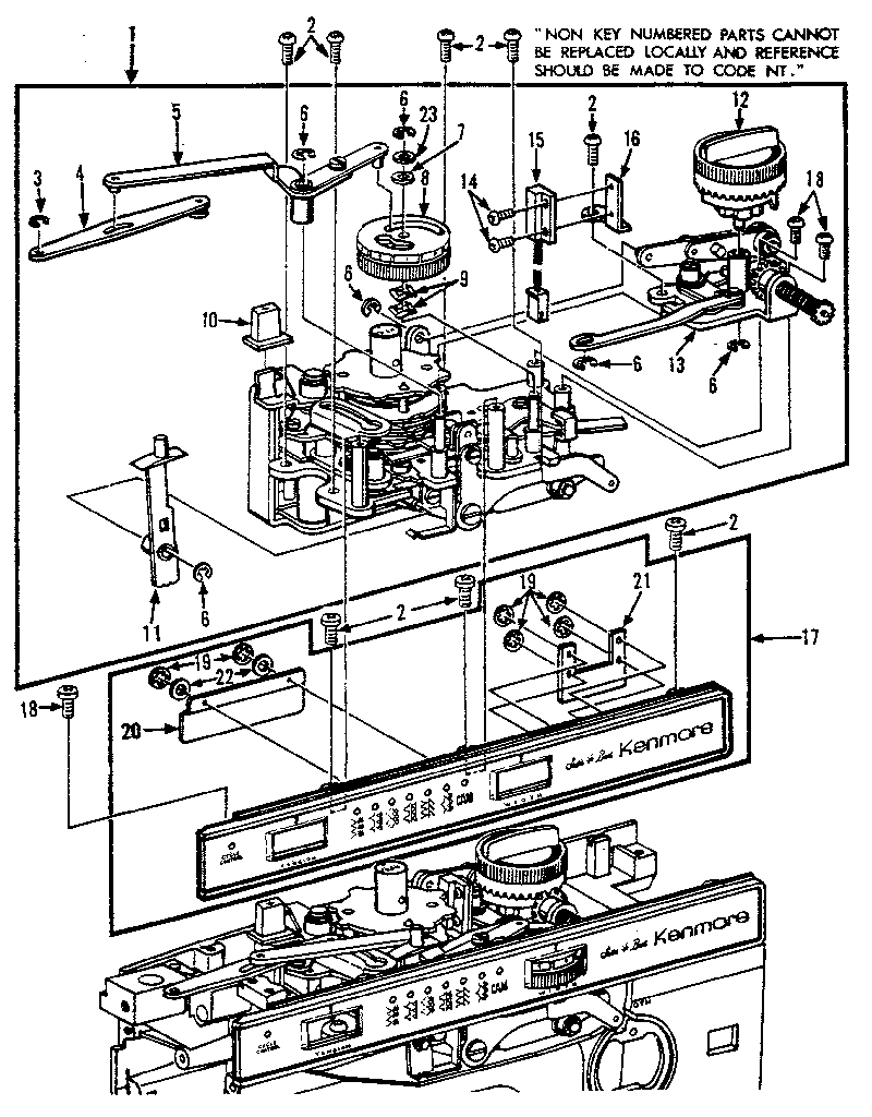 Kenmore model 15819801 sewing genuine parts