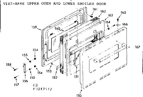 Kenmore model 1033247593 range (gas) genuine parts
