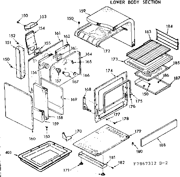 Kenmore model 1037867343 range (gas) genuine parts