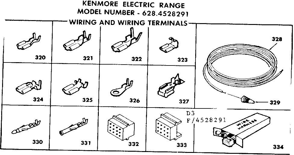 Kenmore model 6284528291 ranges, electric genuine parts