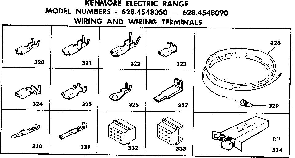 Kenmore model 6284548050 ranges, electric genuine parts