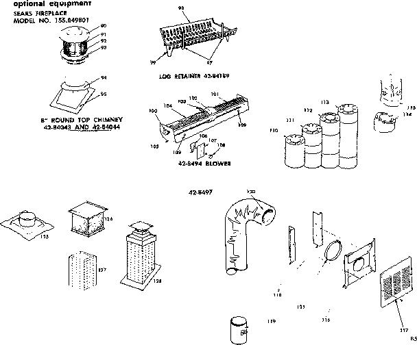 PREWAY SEARS PREFABRICATED BUILT-IN FIREPLACE W Parts