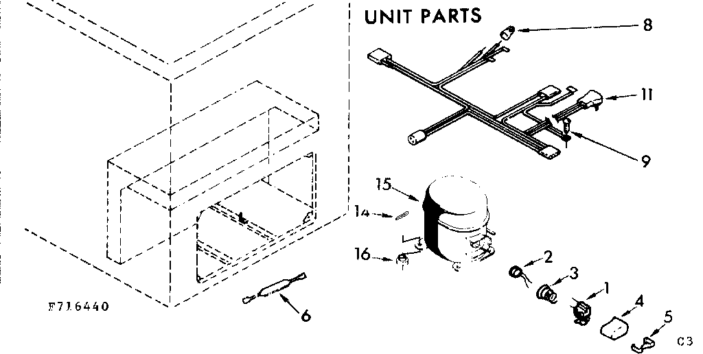 Kenmore model 198716440 chest freezer genuine parts
