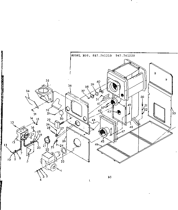 Kenmore model 867741220 heater, kerosene genuine parts