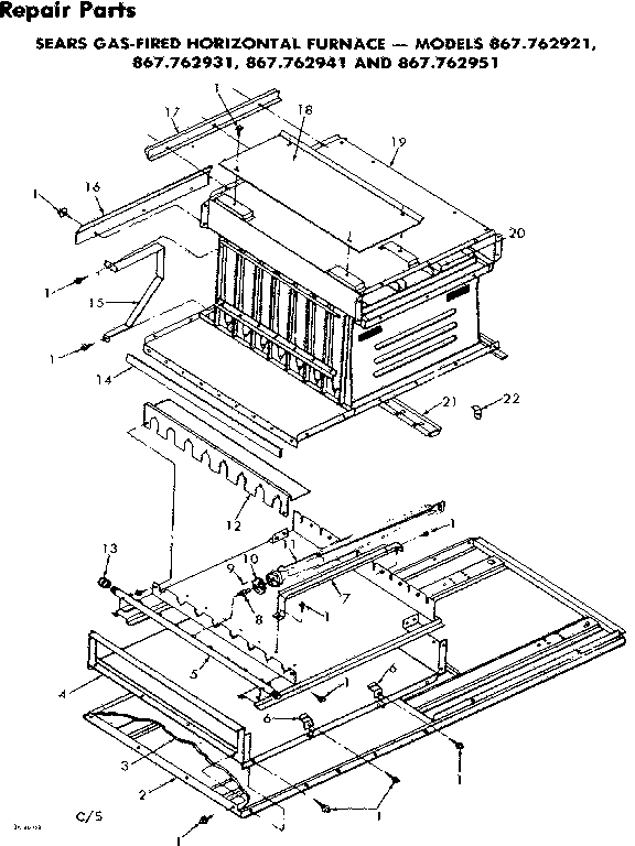 Kenmore model 867762931 furnace/heater, gas genuine parts