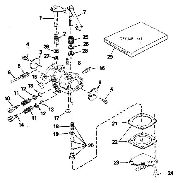 Craftsman model 143711022 engine genuine parts