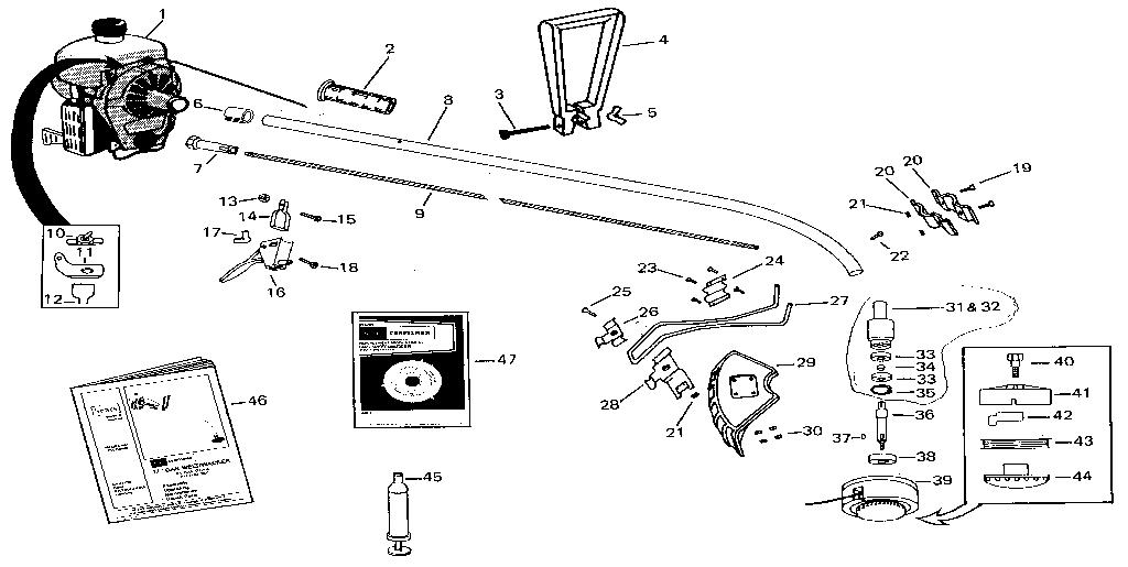 Craftsman model 23489641 line trimmer/weedwacker