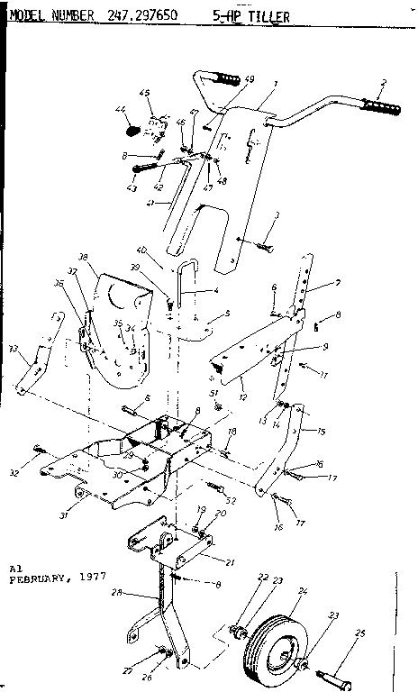 Craftsman model 247297650 front tine, gas tiller genuine parts