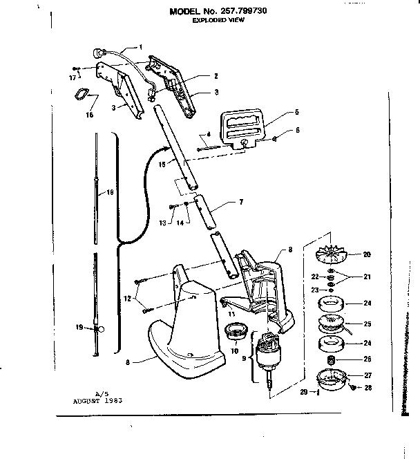 Craftsman model 257799730 line trimmers/weedwackers