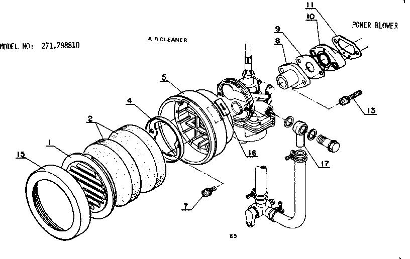 Craftsman model 271798810 line trimmer/weedwacker