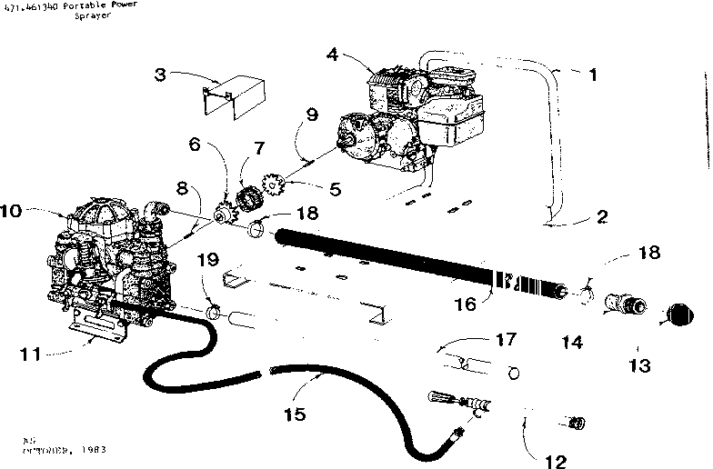 Fimco model ES-134 sprayer and accessory genuine parts