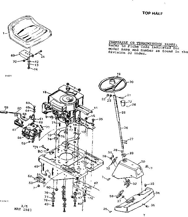 Craftsman model 502256171 lawn, tractor genuine parts