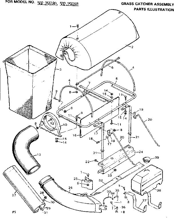 Craftsman model 502256180 lawn, tractor genuine parts