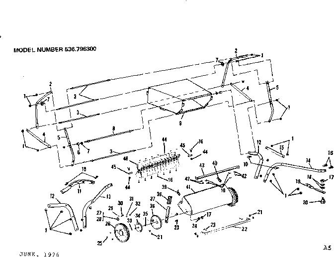 Craftsman model 536796300 tractor attachments genuine parts