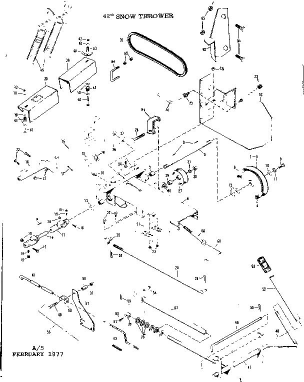 Craftsman model 84226005 snow thrower attachment genuine parts