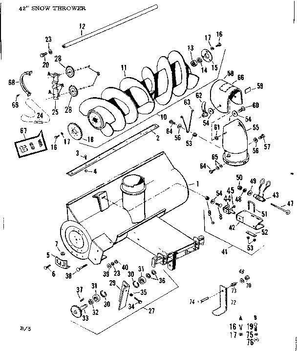 Craftsman model 842260051 snow thrower attachment genuine