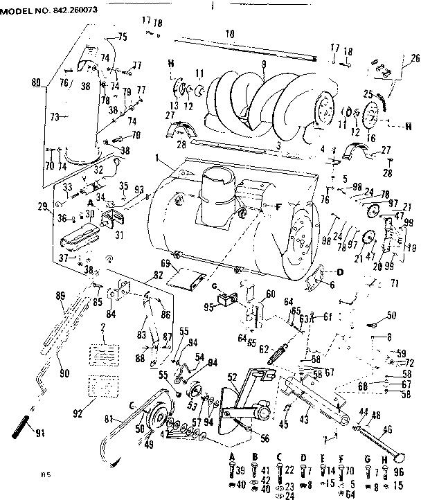 Craftsman model 842260073 snow thrower attachment genuine