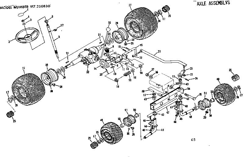 Craftsman model 917250830-1977 lawn, tractor genuine parts