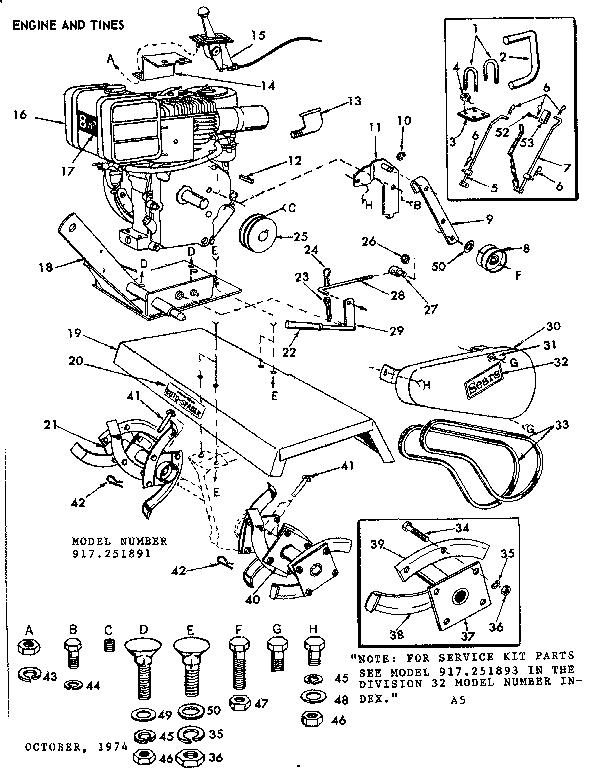Craftsman model 917251891 disc/furrower attachment genuine