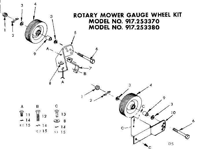 Craftsman model 917253370 tractor attachments genuine parts