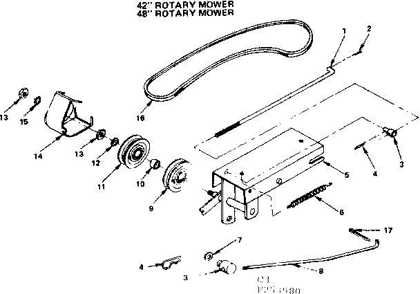 Craftsman model 917253590 mower deck genuine parts