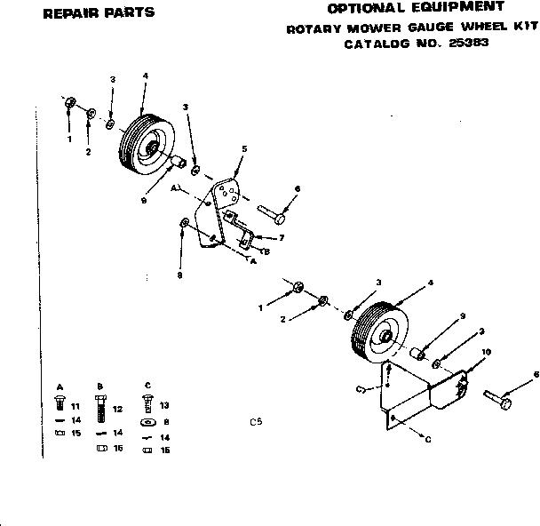 Craftsman model 917253592 mower deck genuine parts