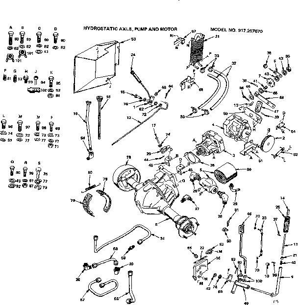 CRAFTSMAN SEARS 18 H.P. TWIN HYDRO GARDEN TRACTOR Parts
