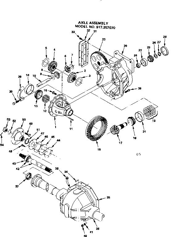 Craftsman model 917257070 lawn, tractor genuine parts
